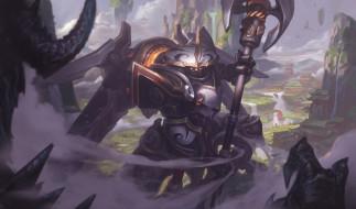 Jax, робот, League Of Legends, пыль