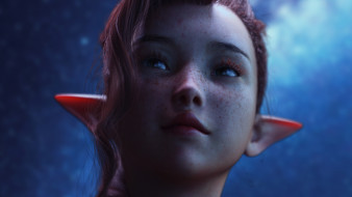 3д графика, эльфы , elves, эльфийка, уши