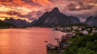 Норвегия, панорама, вода