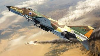 f-4 phantom ii, авиация, 3д, рисованые, v-graphic, phantom, ii, f4, mcdonnell, douglas, военный, самолет, бомбардировщик, истребитель, перехватчик