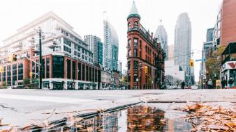 города, торонто , канада, торонто, дома, здания, улица