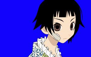аниме, sayonara zetsubo sensei, пластырь, лицо, девочка