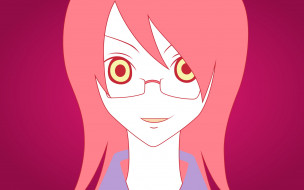 аниме, sayonara zetsubo sensei, девочка, лицо, очки
