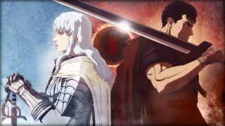 аниме, berserk, руна, мечи, рыцари