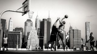 баскетбол, площадка, кольцо