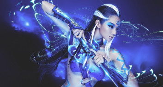 3д графика, фантазия , fantasy, кинжал, фон, девушка