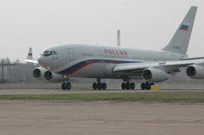 ИЛ- 96, самолёт, Россия, авиалайнер, аэродром