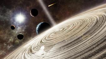 космос, арт, exoplanet, concept