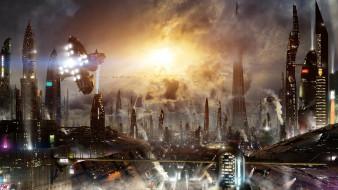 фэнтези, иные миры,  иные времена, фантастика, город, будущего