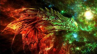 фэнтези, драконы, дракон, сказочное, существо, графика