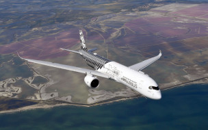 airbus a350-900, авиаперевозки, пассажирский самолет, airbus a350 хwb, современные самолеты