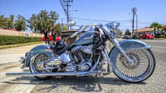 мотоциклы, harley-davidson, deluxe