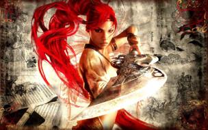 рисунки, меч, девушка, Нарико