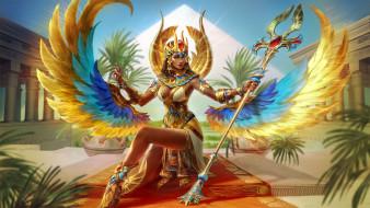 видеоигры, персонаж, isis goddess, smite