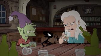 мультфильмы, disenchantment, luci, elfo, bean, разочарование