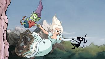 мультфильмы, disenchantment, разочарование, luci, elfo, bean