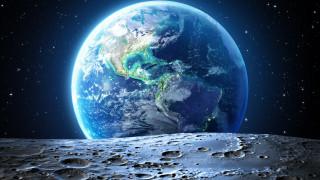 космос, земля, космическое, пространство, поверхность, луны