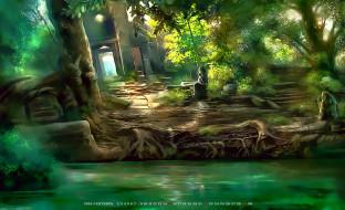 2019, calendar, растение, деревья, природа, здание, водоем
