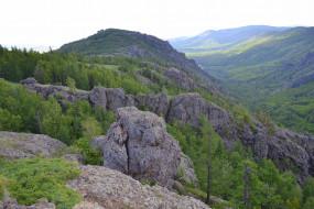 уральские горы, природа, горы, деревья, скалы, уральские, россия, урал