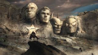 супермен, бэтмен, капитан америка, человек паук