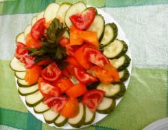 еда, салаты,  закуски, томаты, огурцы, помидоры