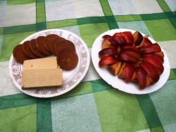 еда, яблоки, вафли, печенье