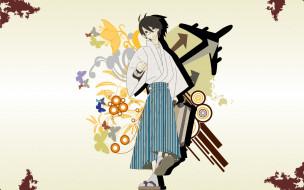 аниме, sayonara zetsubo sensei, графика, сенсей, юката