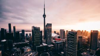 города, торонто , канада, башня, торонто