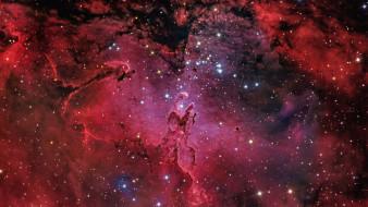 космос, галактики, туманности, туманность, орёл