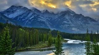 природа, горы, канадские, скалистые