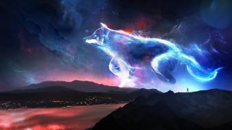 фэнтези, существа, волк, фантазия