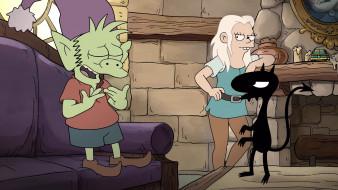 мультфильмы, disenchantment, luci, bean, elfo, разочарование