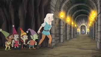 мультфильмы, disenchantment, bean, elfo, разочарование