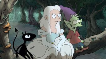 мультфильмы, disenchantment, bean, elfo, luci, разочарование