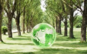 3д графика, атмосфера, настроение , atmosphere ,  mood , шар, земля, деревья, аллея