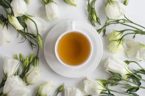 еда, напитки,  чай, эустома, чай