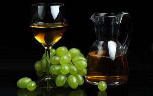 еда, напитки,  вино, бокал, вино, виноград, кувшин