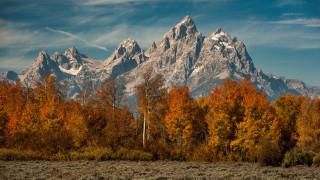 природа, горы, сша, национальный, парк, гранд-титон