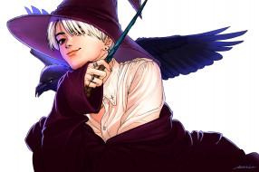аниме, магия,  колдовство,  halloween, ведьма
