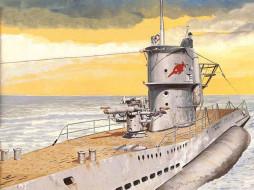 корабли, рисованные