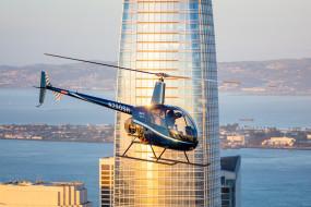 здание, вертолёт, небоскрёб