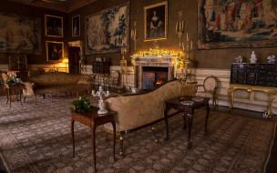обои для рабочего стола 1920x1200 интерьер, дворцы,  музеи, свечи, камин