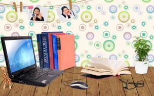 разное, компьютерный дизайн, жираф, ноутбук, книги, очки, растение, фотографии