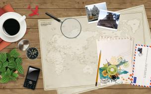 разное, компьютерный дизайн, компас, растение, самолет, кофе, фотографии, карта