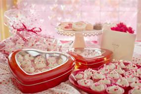 праздничные, день святого валентина,  сердечки,  любовь, сладкие, подарки