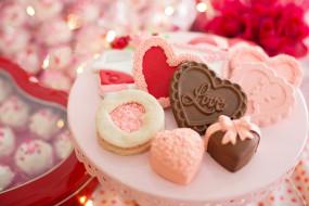 праздничные, день святого валентина,  сердечки,  любовь, конфеты, сердечки, угощение