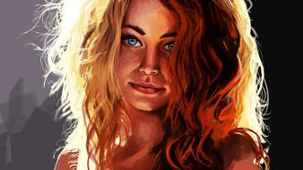 рыжеволосая, красавица, портрет, Redhead girl
