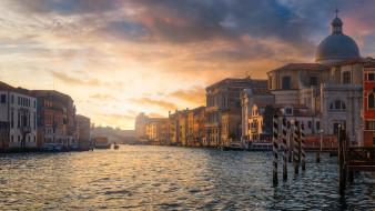 города, венеция , италия, дома, улица, красота, вода, венеция