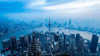 города, шанхай , китай, шанхай, вышка, панорама