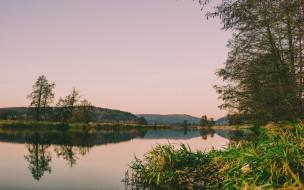 природа, реки, озера, река, простор, вечер